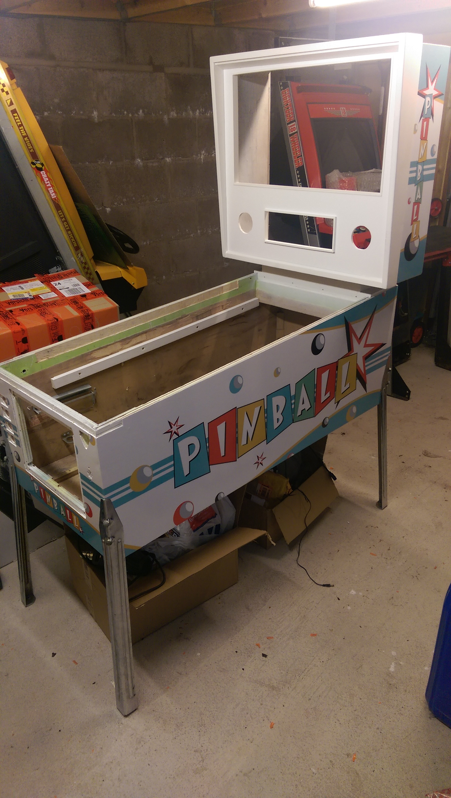 Visual Pinball cabinets      build service, and assistance offered