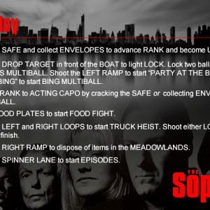 Sopranos Instruction Card